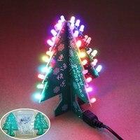 الملونة شجرة عيد الميلاد فلاش led 3d ديي أجزاء الدوائر الإلكترونية جناح التعلم متعة الموسيقى ديكور عيد الميلاد هدية مع christamas