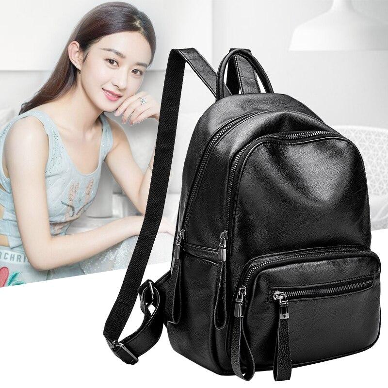 NEW Brand Designer Women Backpack Genuine Leather Large Capacity Vintage Laptop School Backpacks For Teenage Girls  Mochila N068