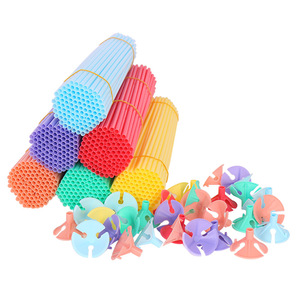 Makaron balloon accessories 100pc/lot 32cm Balloon Holder Sticks with cups party supplies decoration Balloons Holder Sticks(China)