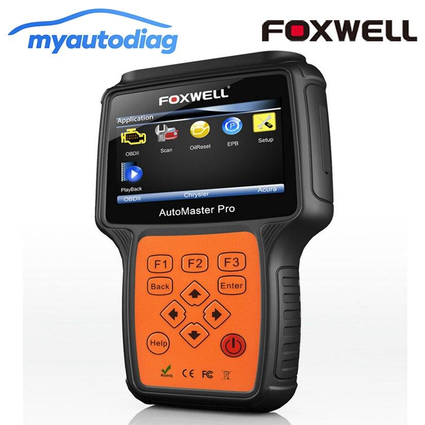 OBD narzędzie diagnostyczne skaner Foxwell NT614 samochodu cztery systemy silnik ABS poduszka powietrzna SRS skrzynia biegów samochodu OBD2 skaner motoryzacyjny