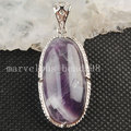 Free Shipping Beautiful jewelry  Smart  Natural Amethyst Rrt  OvalPendant Bead  MC3566