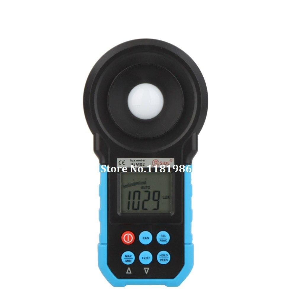 Compteur de lumière numérique Bside ELM02 illuminomètre de luxmètre gamme automatique et manuelle 0 ~ 200000 Lux