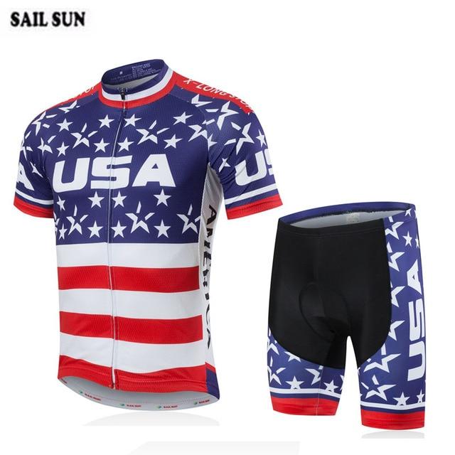 0d0933833 2018 USA team men s cycling jersey set road bike bicycle ropa ciclismo  maillot cycling clothing bib