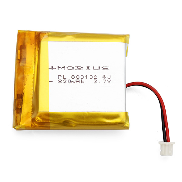 Mobius 3.7V 820mAh Upgraded Battery Rechargeable Lipo Battery for Action Sport Camera