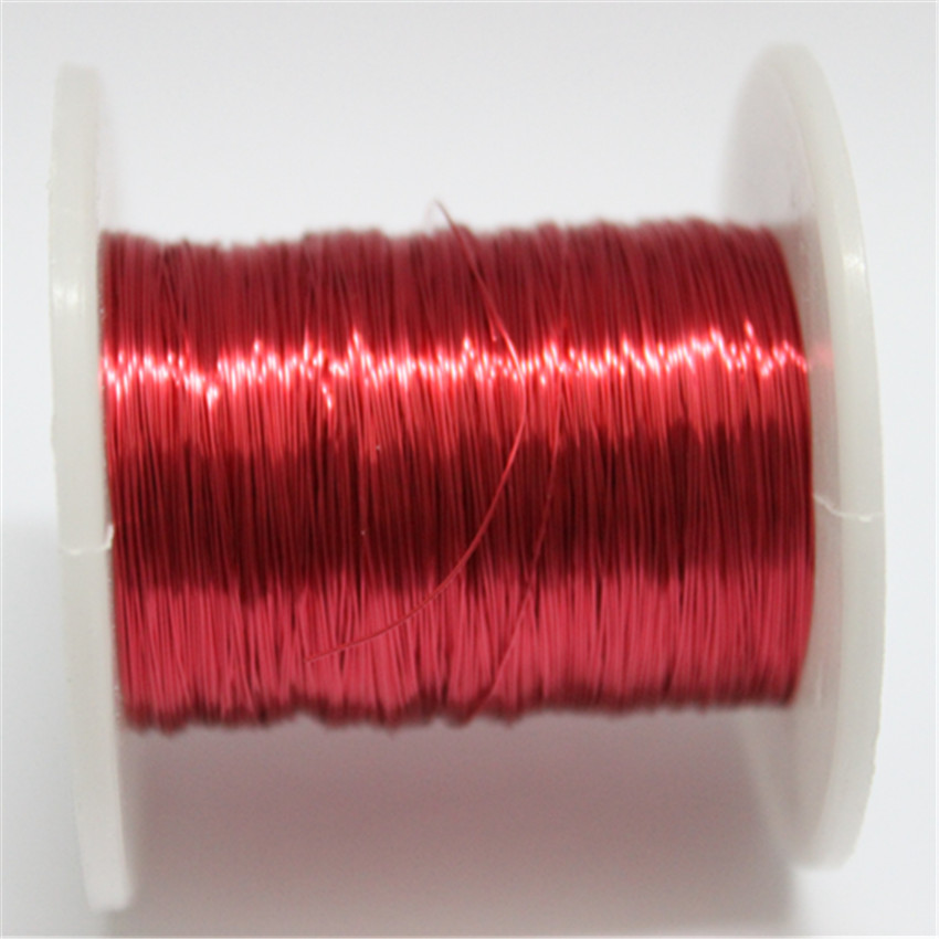 Red Magnet Wire 0.2mm Enameled Copper wire Magnetic Coil Winding 200m/pc
