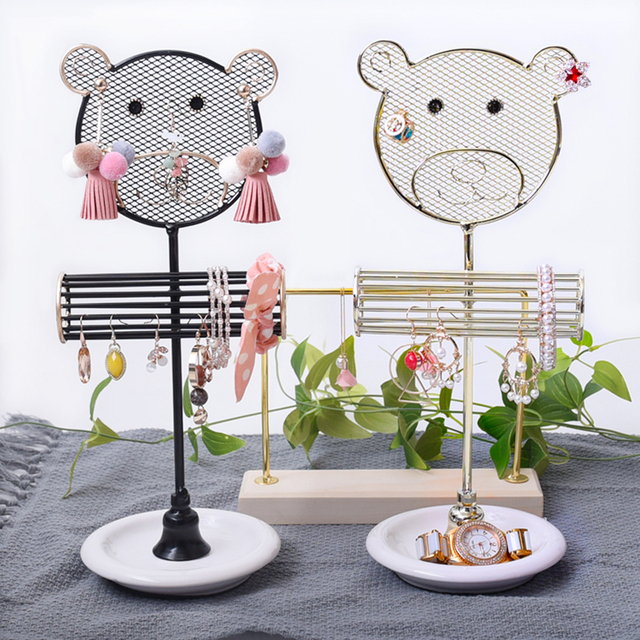 Stylish Cute Little Bear Cartoon Design Stand Rack Bar Hanging ...