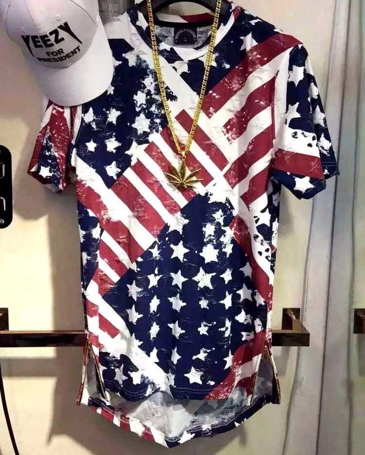 Été USA drapeau américain t-shirt hommes marque Jersey 2019 nouvelle mode Hip Hop t-shirt Fitness à manches courtes vêtements pour hommes