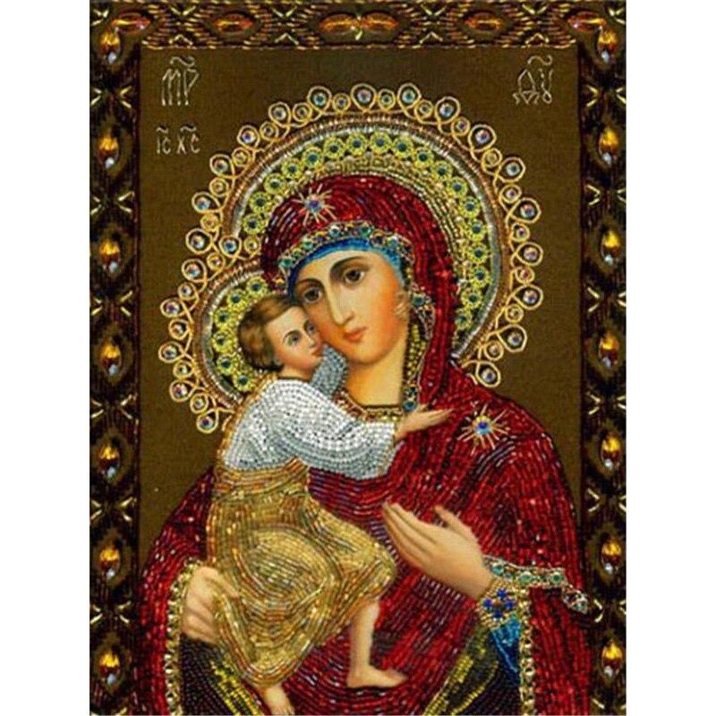 Lzaiqizg иконы 3D Алмазная вышивка религиозная алмазная живопись полные квадратные Стразы картины Дева Мария Алмазная мозаика распродажа