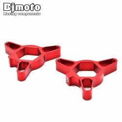 BJMOTO 19mm CNC Motorcycle Fork Preload Adjusters For Kawasaki ZX6R Z1000 For Honda CBR 600 1000 RR for Suzuki GSXR 600 750