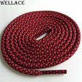 Weiou bright colors hiking walking two toned rope laces replacement shoe laces round rope shoelaces 125cm/49'' for basketball