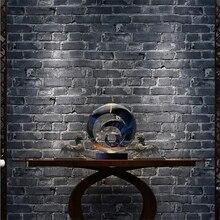 ФОТО beibehang retro brick brick green brick wallpaper 3d antique brick modern chinese restaurant clothing  wallpaper for walls 3