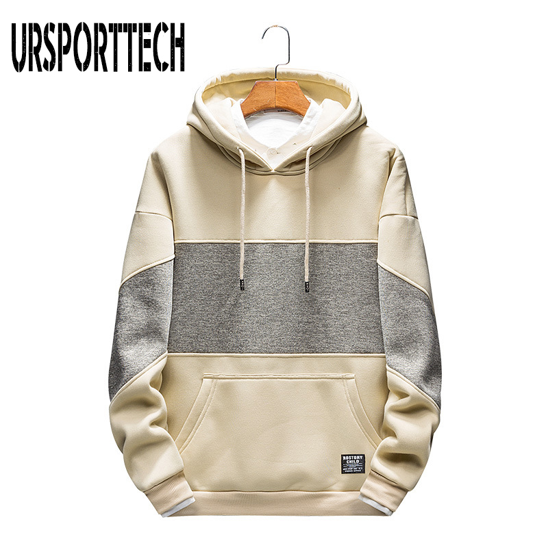 2019 New Arrival Hot Selling Brand Hoodies Men Spring Autumn Fashion Casual Long Sleeve Streetwear Patchwork Hooded Sweatshirts