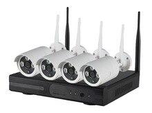 2016 4 UNIDS Casa de Seguridad Inalámbrica Wifi Cámara IP P2P 720 P HD Al Aire Libre con kit NVR Sistema de Vigilancia de CIRCUITO CERRADO de televisión Kit de sistema de