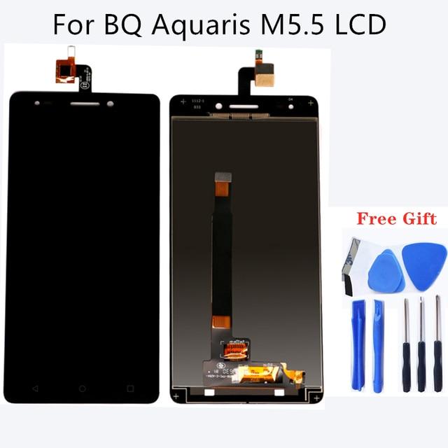 Cho BQ Aquaris M5.5 LCD Chuyển Đổi Kỹ Thuật Số cho BQ Aquaris M5.5 Hiển Thị Cảm Ứng M5.5 Màn Hình Máy Tính Bảng Thành Phần Miễn Phí Vận Chuyển