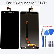 Için BQ Aquaris BQ Aquaris için M5.5 LCD Dijital Dönüşüm Kiti M5.5 Dokunmatik Ekran M5.5 Tablet Ekran Bileşen Ücretsiz Kargo