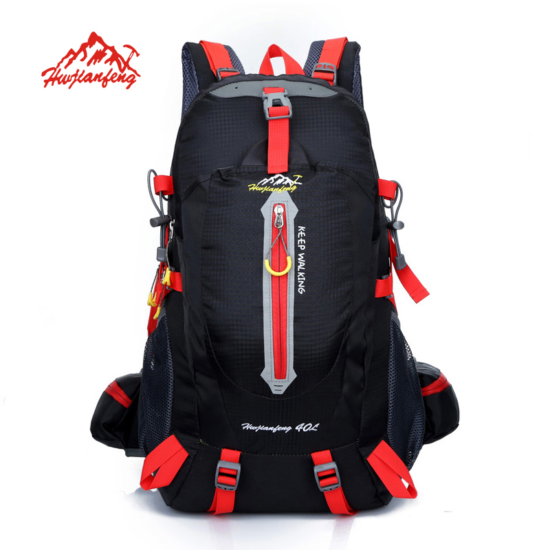 Outdoor Backpack 40L Travel Climbing Backpacks Waterproof Rucksack Mountaineering bag Nylon Camping Hiking Backpack 40l waterproof nylon travel backpack outdoor mountain camping backpack nylon bag fashion climbing hiking cycling backpack bolsa