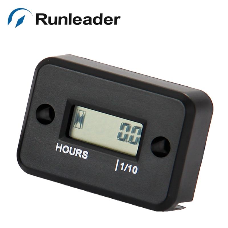 Runleader 5pcs Digital Inductive Petrol Engine Hour Counter Meter For Motorcycle ATV Motocross Dirt Bike Generator
