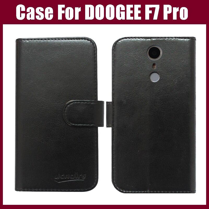 Pouzdro DOOGEE F7 Pro, šest barev luxusní Flip kožené pouzdro na telefon pro DOOGEE F7 Pro Cover s držákem karet svěží styl