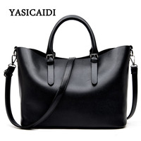 Large Capacity Pu Leather Handbags Women Bags Pu Leather Shoulder Bag Casual Tote Bags Female Famous