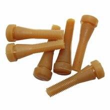 Haste de borracha para aves domésticas, 50 peças comprimento de codornas 6.2cm borracha remoção de dedos máquina de cola plucker