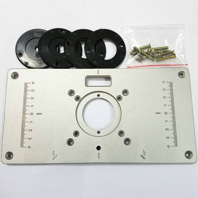 1шт/набор новый 700C алюминиевая пластина 4шт вставить кольца деревянный стол маршрутизатор для деревообработки маршрутизаторы триммеры поделки Engrving машина