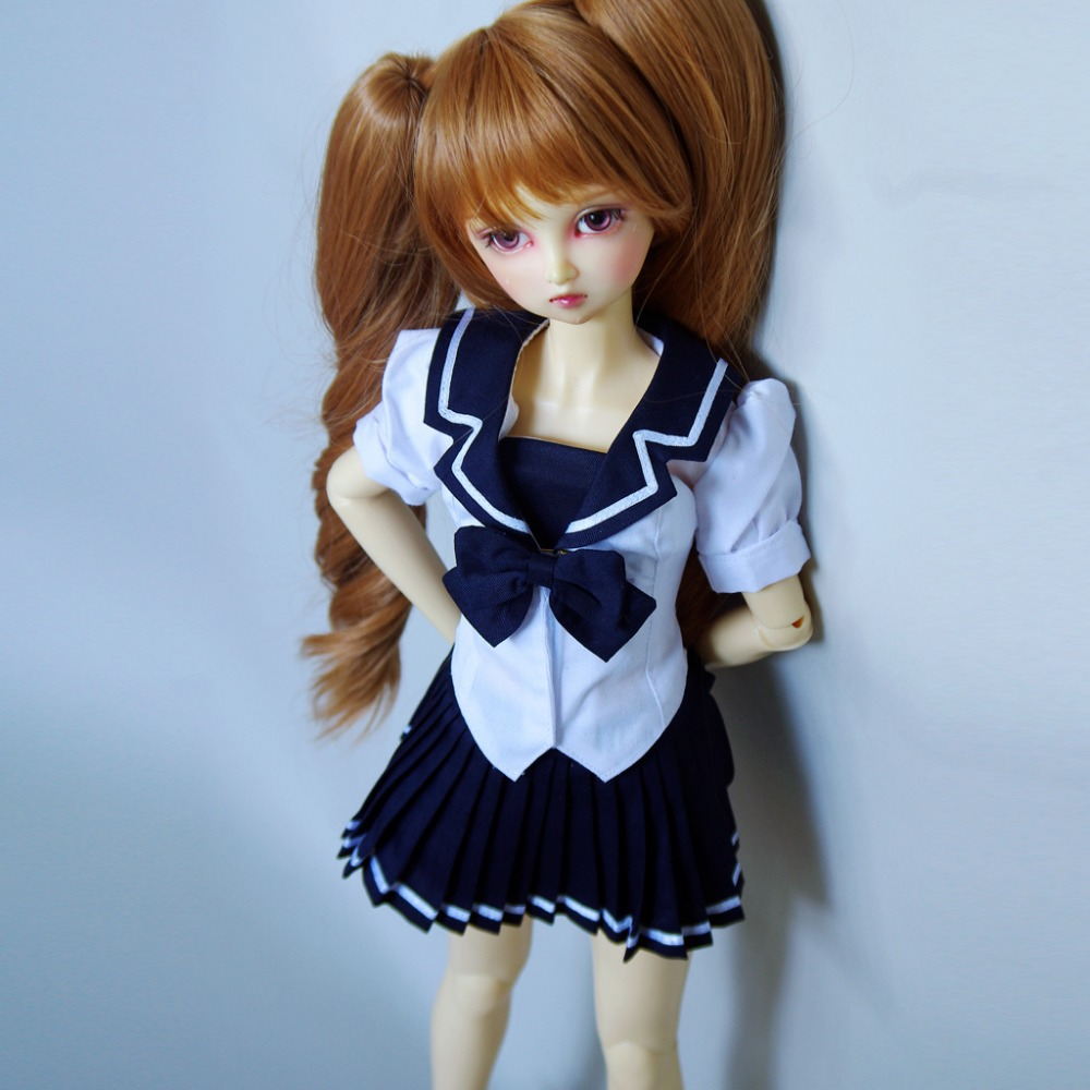 [wamami] 251#Dream Cosplay Mirai Suenaga 1/3 SD AOD DOD BJD Dollfie Uniform [wamami] 05 white clothes shirt blouse 1 3 sd dod bjd dollfie
