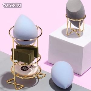 Image 4 - 2 pièces maquillage beauté oeuf poudre bouffée éponge présentoir pratique cosmétique stockage outil séchage support pour coiffeuse