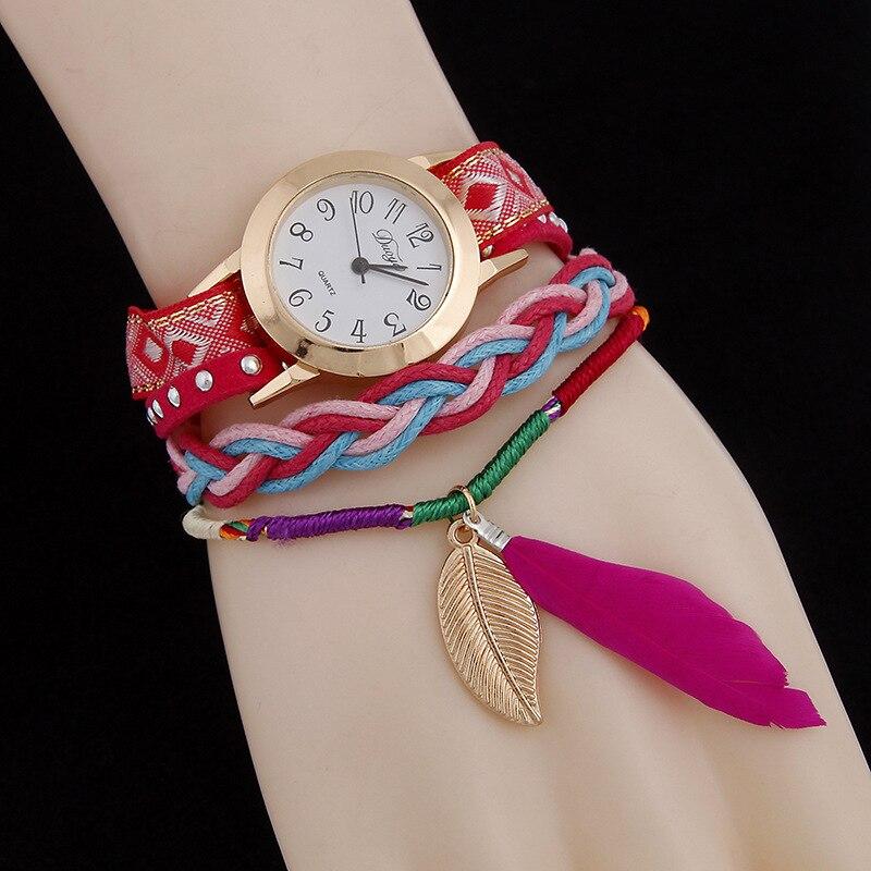 New design 2018 Fashion Watches Women Vintage Rivet Punk Bracelet Watches Casual Analog Wrist Watch Women Drss Watch Clock AC105
