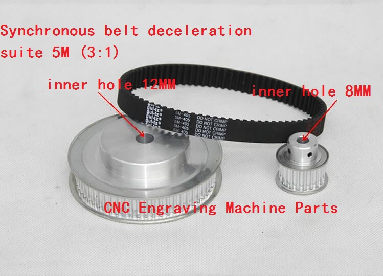 CNC engraving machine parts for rotary axis, synchronous belt wheel, 5M synchronous belt deceleration suite(3:1) engraving machine pumps injection pump oiler manual engraving machine parts