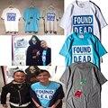 SUPREMITIED 2017 НОВЫЙ Найден Мертвым Роза футболка хлопок хип-хоп Brand Clothing дворец футболки мужчины женщины yeezy crossfit футболка