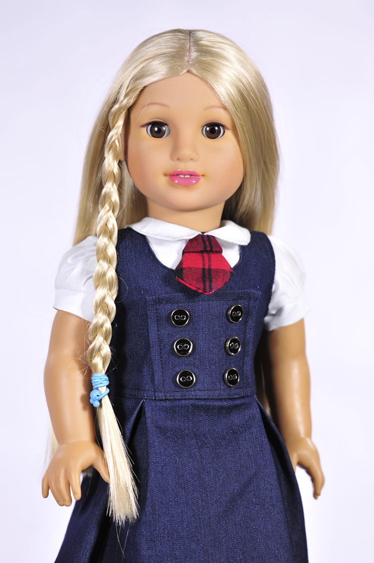 British style uniforms princess Clothes for dolls 45cm American girl Accessories for dolls