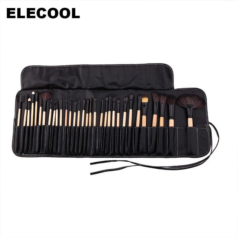 Professional 32Pcs Makeup Brush Set Full Application Foundation Concealer Powder Brushes with Black Bag Lip Face Eye Make Up Kit кровать из массива дерева austin furniture 1 8