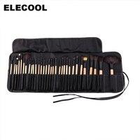 Professional 32Pcs Makeup Brush Set Full Application Foundation Concealer Powder Brushes Black Bag I37E