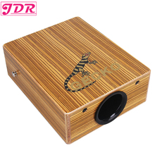 JDR Travel Cajon Birch Wood Box Drum String Structure Inside For Drummers Travelling Musicians With Braces Bag Portable