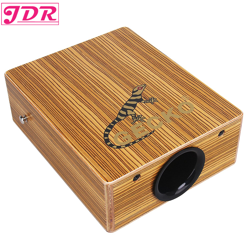 JDR Travel Cajon Birch Wood Cajon Box Drum String Structure Inside For Drummers Travelli ...
