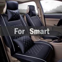 Vehicles Seats Summer Cool Car Seat Cushion Car Air Conditioning Leather Covers Set For Smart Forfour Fortwo Roadster