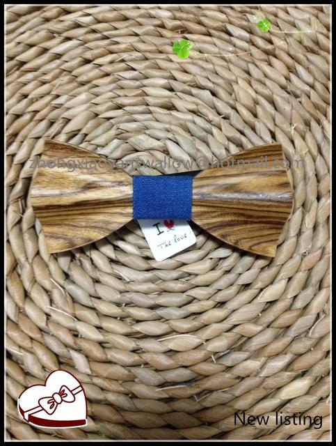 Wood Bow tie Handmade Classic Fashion Novelty Mens ties Gentlemen Handcrafted