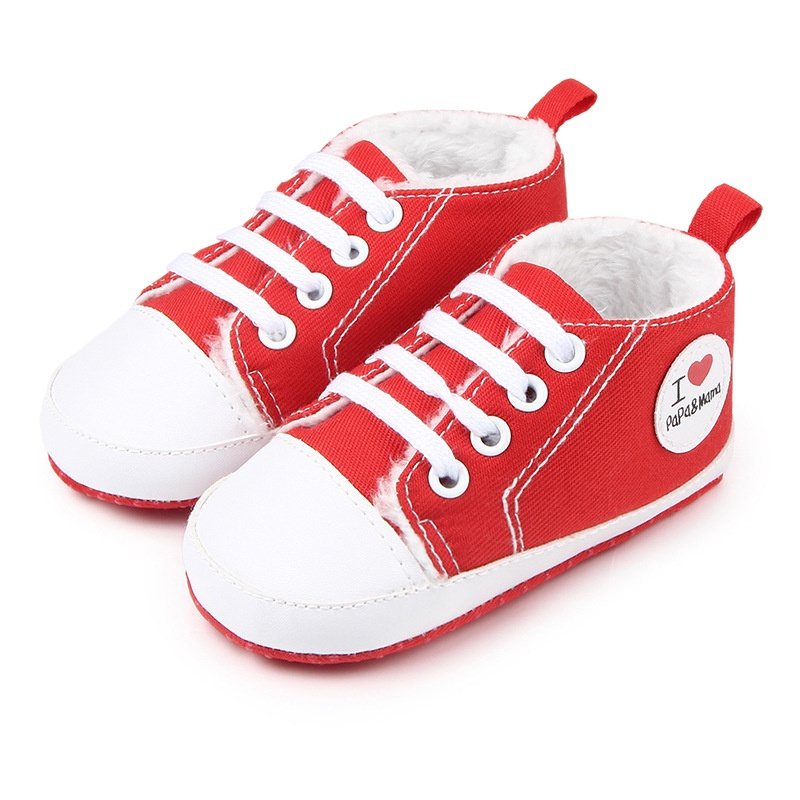 Baby Shoes Winter Plus Velvet Love Heart Girls Shoes First Walkers Warm Infant Newborn Boy Girl Thicker Shoes Sneaker