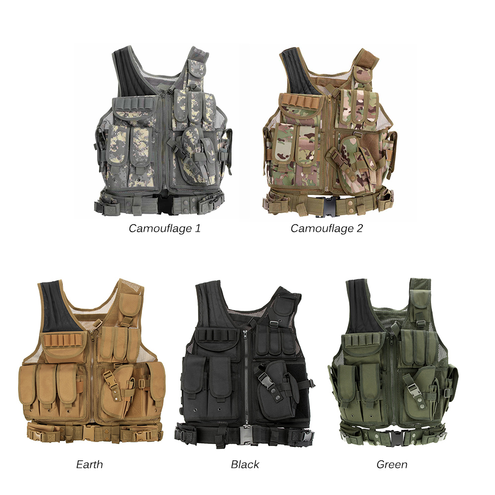 Men Military Camouflage Hunting Tactical Vest Field Airsoft Molle Combat Assault Plate Carrier CS Outdoor Jungle Equipment