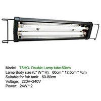 60 80cm Aquarium LED Light Fish Tank with Extendable Brackets T5HO Water Grass Lamp Double/Four Tubes Plant Aquatic 24W