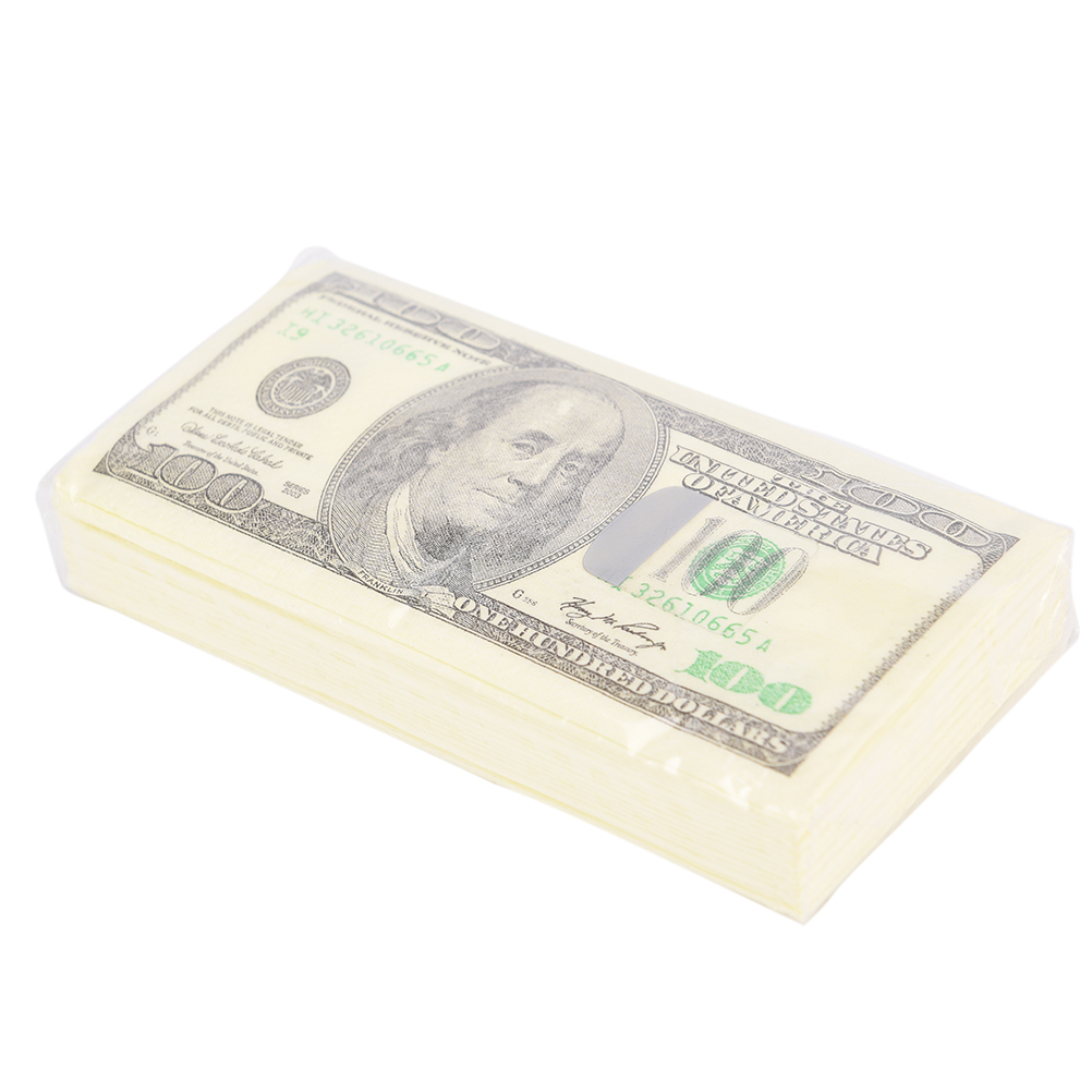 2018 Hot New 100 Dollar Toilet Tissue Paper Napkin Soft Printing Natural Comfort Funny Personality Popular Fashion 9pcs