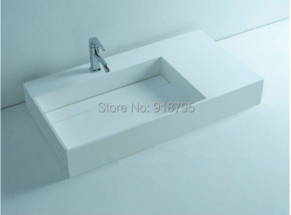 Schön Rechteckigen Matt Solid Surface Stein Arbeitsplatte Waschbecken Badezimmer  Corian Stein Waschbecken RS3815 973(China