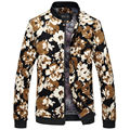 Retro flower pattern printing fashion casual boutique jacket Autumn&Winter Korean style cotton quality stand collar jacket men