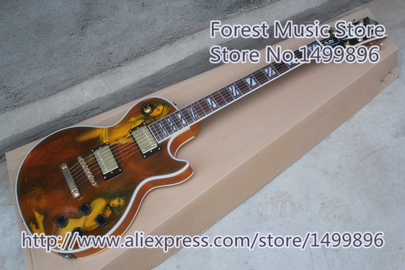 China Custom Shop Finish Solid Mahogany Body LP Custom Electric Guitar As Picture For Sale custom shop china lp electric guitar in desert burst color quilted top guitar body lefty custom available