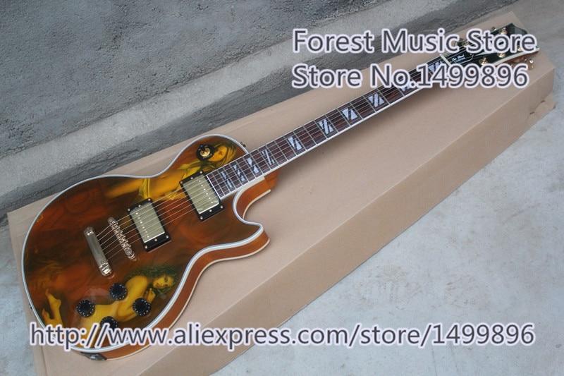 っChina Custom Shop acabado caoba Cuerpo eléctrica LP Guitarras como ...
