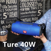 High Power Wireless Bluetooth Speaker 40W Outdoor Portable Column with Subwoofer for Notebook FM phone Music Center Theater MP3
