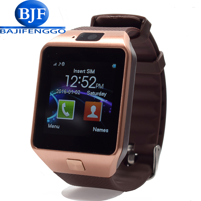 imágenes para G1 smart watch para el teléfono android soporte sim/tf podómetro gprs usable reloj inteligente reloj de pulsera del deporte pk gv18 gt08