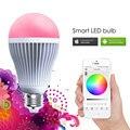 Bluetooth LEVOU Bulbo AC85-240V 9 W RGBW LEVOU Luz Do Bluetooth 4.0 inteligente de Iluminação Lâmpada LED Cor Mutável E27 E26 B22 Livre grátis