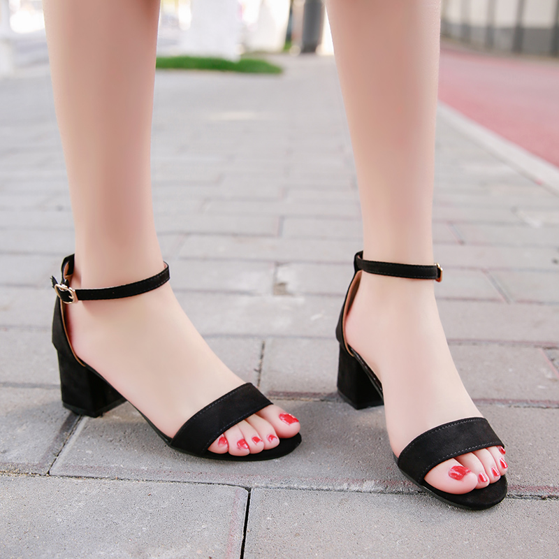 YUANMING Women Sandal Summer High Heels Women Causal Shoes Fashion Comfortable Female High Heel for Women Shoes in Women 39 s Sandals from Shoes