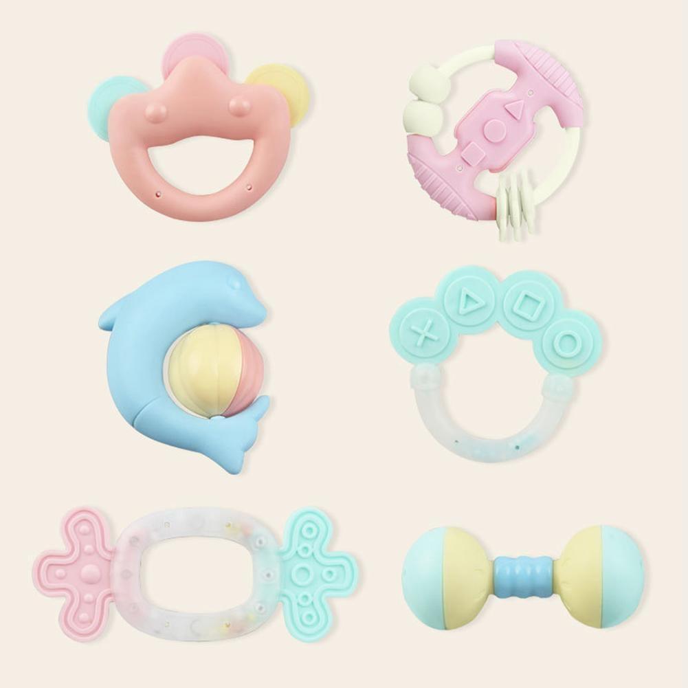 Новые детские игрушки может быть вареная зубы резинка кольцо 6 шт. из посылка с Подарочная коробка для хранения Перевозка груза падения